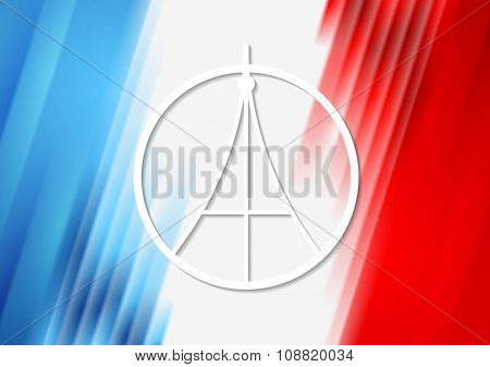 Pray for Paris. French flag colors vector background