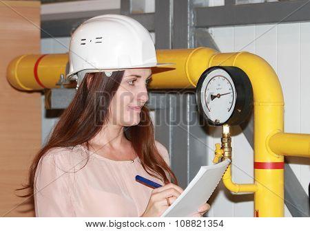 Operator In A Helmet