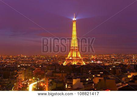Eiffel Tower At Twilight, Paris