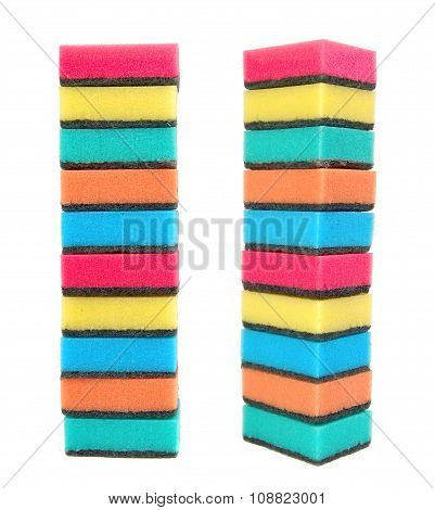 Sponges multicolored for homework