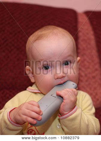 Little boy with remote control