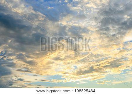 Sunset Sky. Beautiful Sky.
