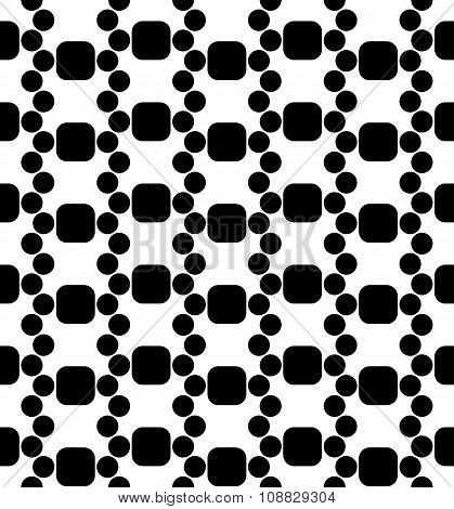 Vector modern seamless geometry pattern dna black and white abstract