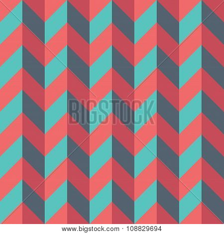 Vector modern seamless colorful geometry chevron lines pattern color blue red abstract