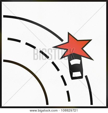 Norwegian Supplementary Road Sign - Particular Danger Of Accident