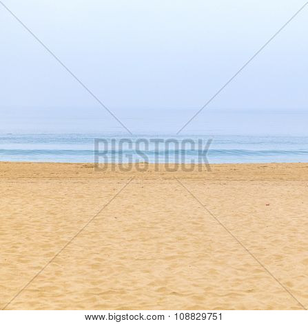 Empty Beach In The Morning