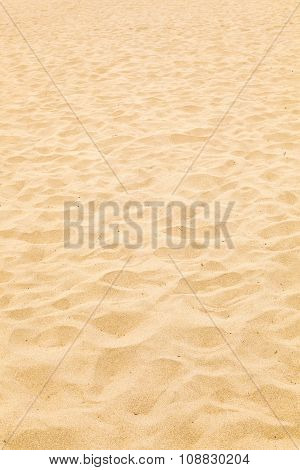 Pattern Of Sandy Beach In The Morning