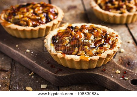 Tart With Nuts And Caramel