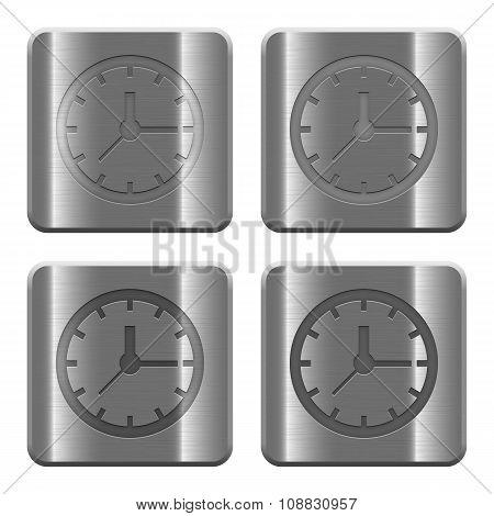 Metal Clock Buttons