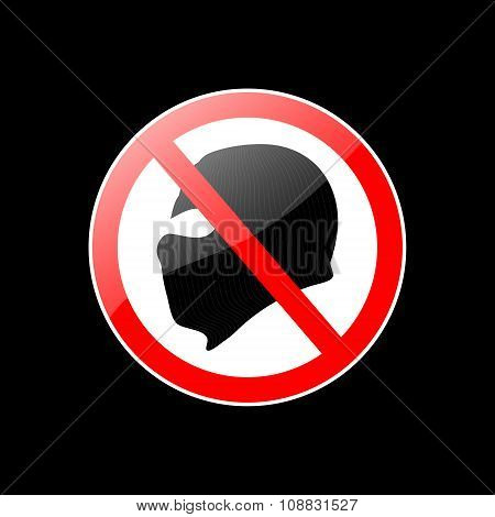Vector Red And Black Stop Terror Sign Isolated