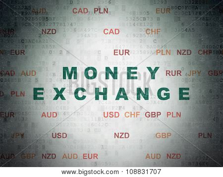 Currency concept: Money Exchange on Digital Paper background