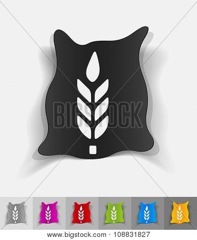realistic design element. bag of grain
