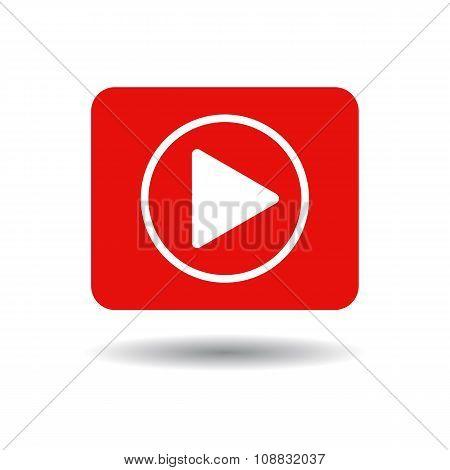 Play button web icon,
