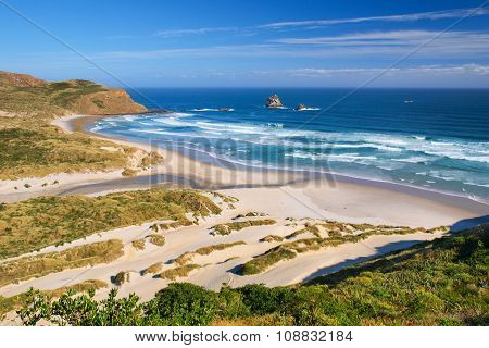 Beautiful Inviting Beach New Zealand