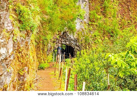 Tunnel On Hike Trail, Madeira