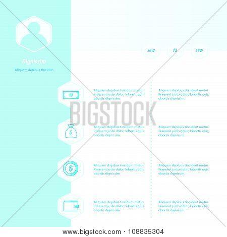 Timeline Infographic Design Bule Color