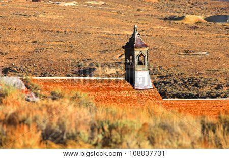 Historic preserved church in Bodie California