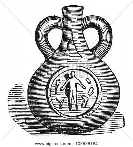 Gourde Egypt, vintage engraved illustration. Industrial encyclopedia E.-O. Lami - 1875.