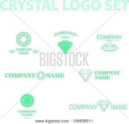 Vector diamond logo set.