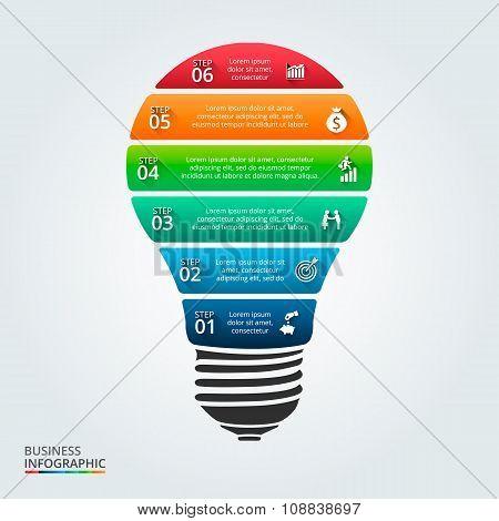 Vector lightbulb for infographic.