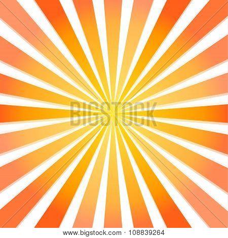 Fullscreen Vector Sun Beam From Center To The Edges (yellow To Dark Orange)