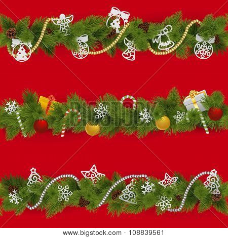 Vector Christmas Borders
