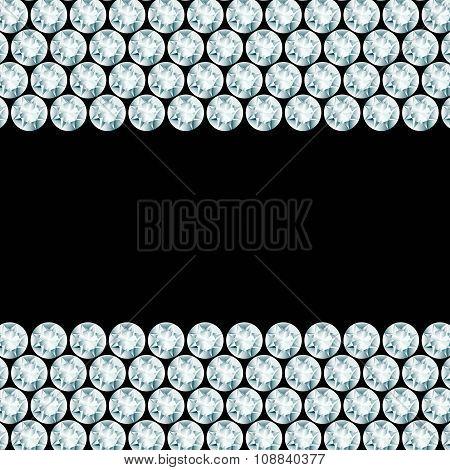 Black Background With 2 Diamond Borders