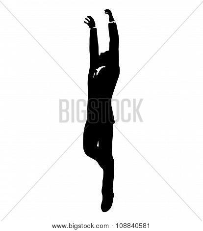 Businessman Hanging
