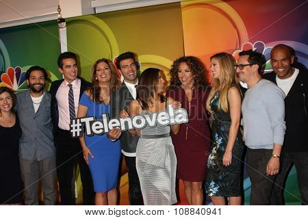 LOS ANGELES - NOV 17:  Telenovela Cast at the Press Junket For NBC's