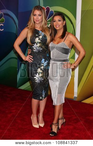 LOS ANGELES - NOV 17:  Jadyn Douglas, Eva Longoria at the Press Junket For NBC's