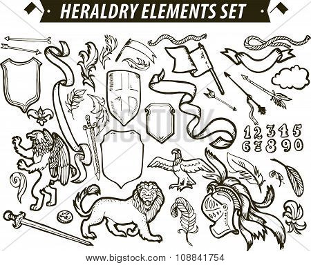 Vector heraldry emblem collection.