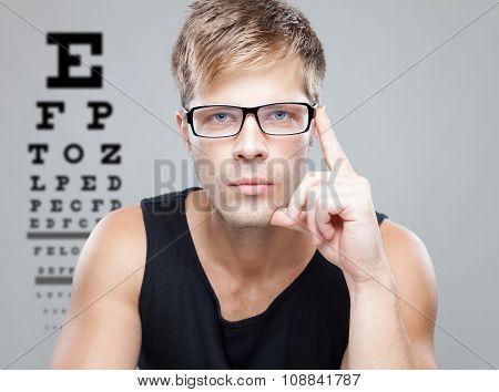 Handsome Man Wearing Glasses