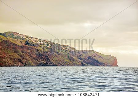 Cliff Coast Off Town Canico, Madeira