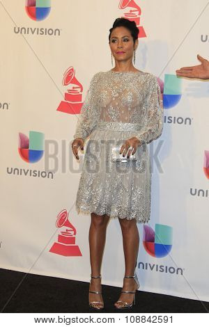 LAS VEGAS - NOV 19:  Jada Pinkett Smith at the 16th Latin GRAMMY Awards at the MGM Grand Garden Arena on November 19, 2015 in Las Vegas, NV