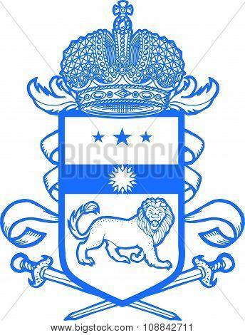 Vector heraldic coat of arms.