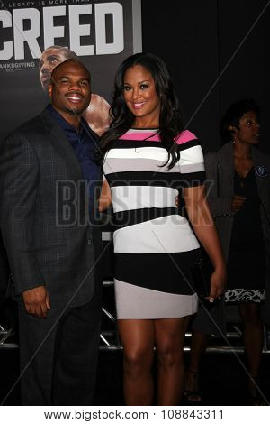 LOS ANGELES - NOV 19:  Curtis Conway, Laila Ali at the