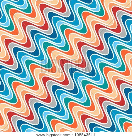 Pattern of Waves of Different Colors