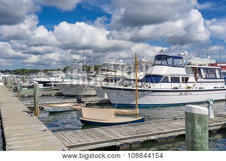 Falmouth marina on Cape Cod