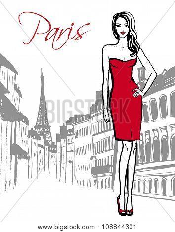 woman standing in Paris