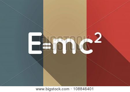 Long Shadow Flag Of France Vector Icon With The Theory Of Relativity Formula