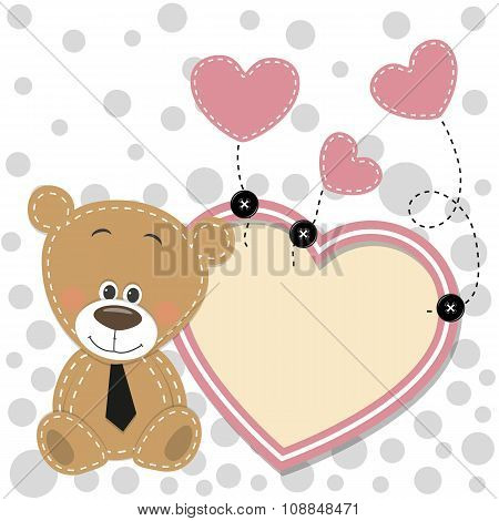Bear With Heart Frame