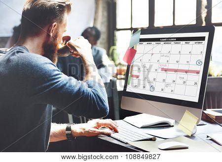 Calender Planner Organization Management Remind Concept