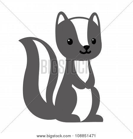 Cute Cartoon Skunk