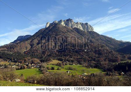 Forclaz Mountain Near Annecy, France