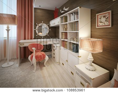 Children's Room In A Marine Style