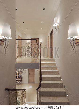 Hallway Art Nouveau Style