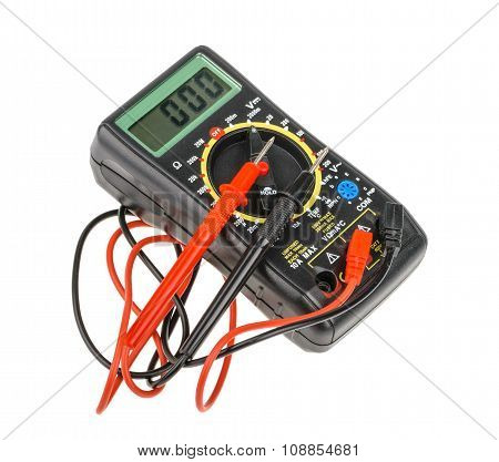 Digital Multimeter Isolated On White Background. Without Shadow