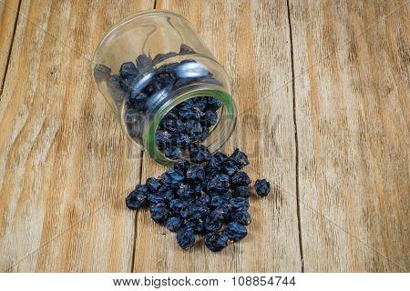 Black Grapes And Raisins