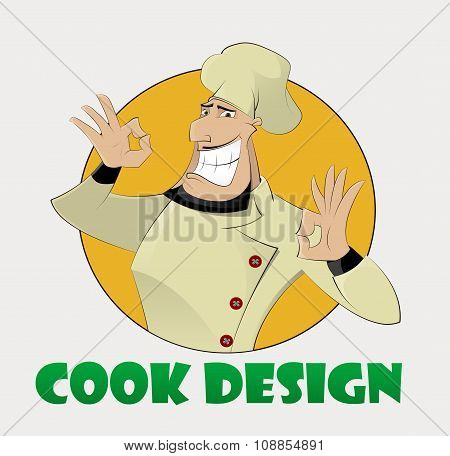 Cartoon Proud Cook Man