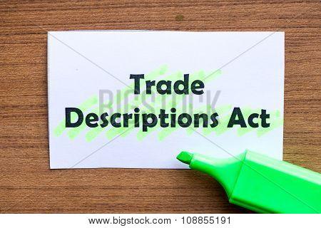 Trade Descriptions Act